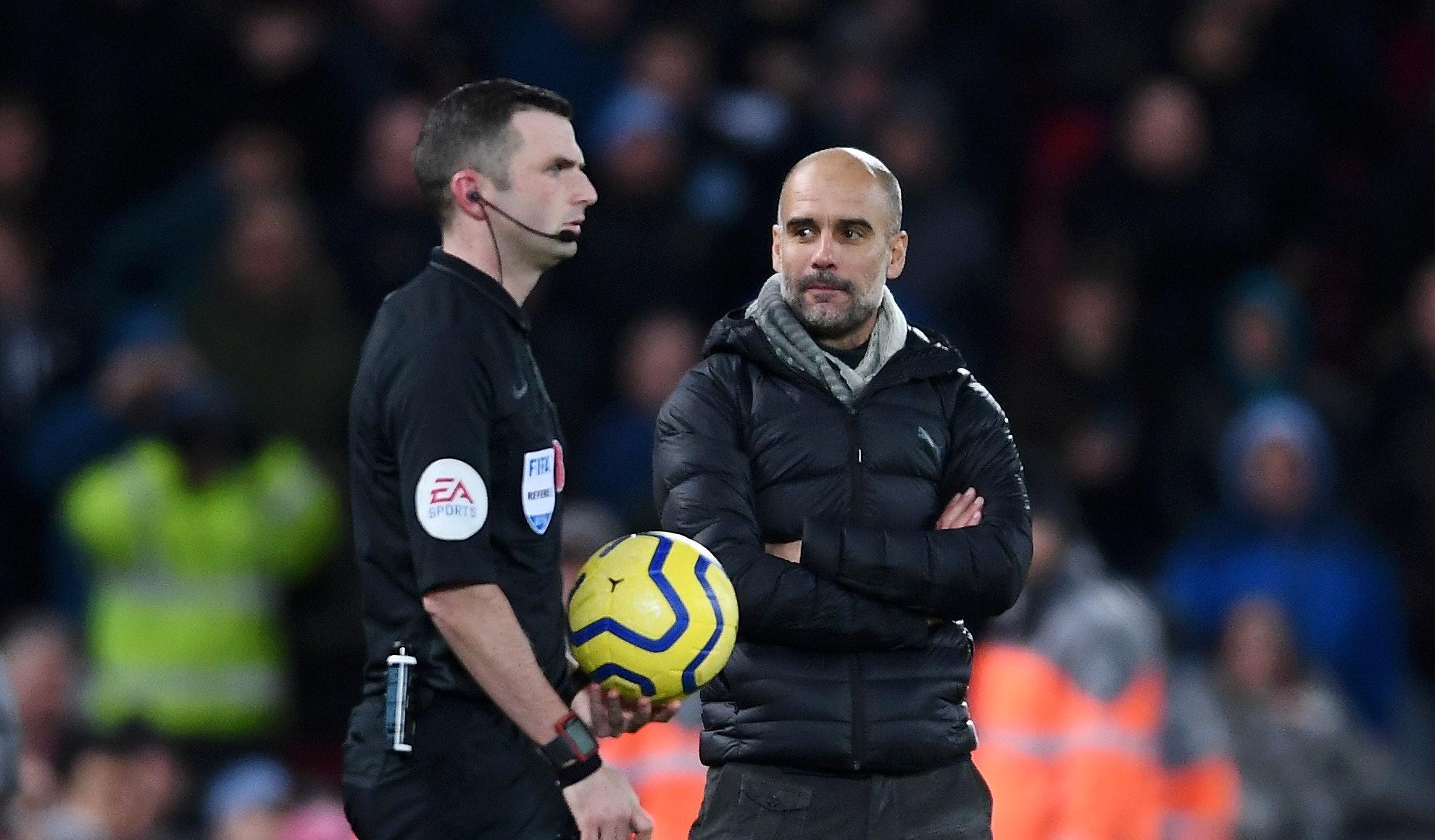 Manchester City med formell klage på dommer Michael Oliver etter tapet på Anfield